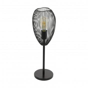 Настольная лампа clevedon 60вт e27 черный
