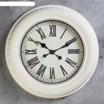 Часы настенные, серия: интерьер, сабана, d=50 см