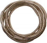 Резинки re043 для волос блестящие, коричневые, midi (10 шт.)