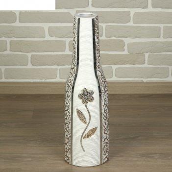 Ваза керамика напольная цветок амиры