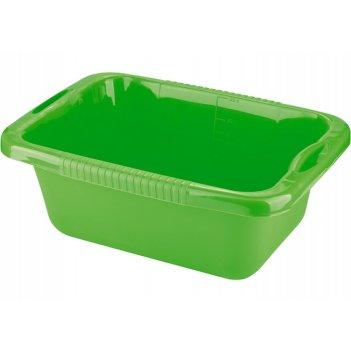 Таз пластмассовый прямоугольный 25л, зеленый тм elfe россия