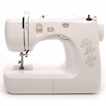 Швейная машина comfort 12, 8 операций, качающийся челнок, белая
