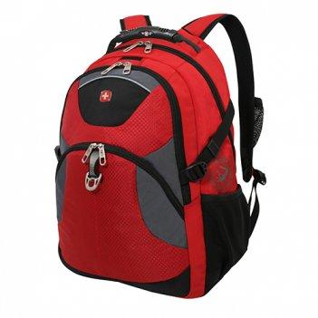 Рюкзак wenger цв.красный, серый, чёрный с двумя отделениями