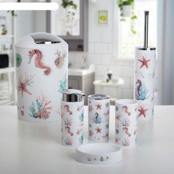 Набор аксессуаров для ванной комнаты, 6 предметов бриз