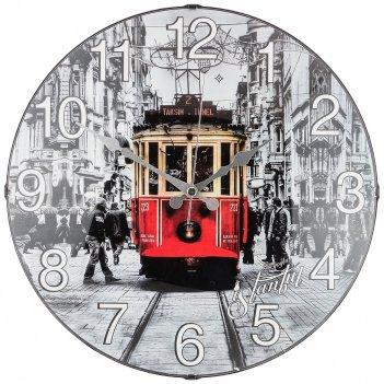 Часы настенные кварцевые диаметр 35,5 см диаметр циферблата 34,5 см (кор=1