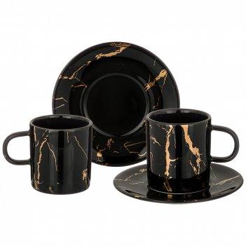 Кофейный набор на 2пер. 4 пр.fantasy100мл, черный (кор=24наб.)
