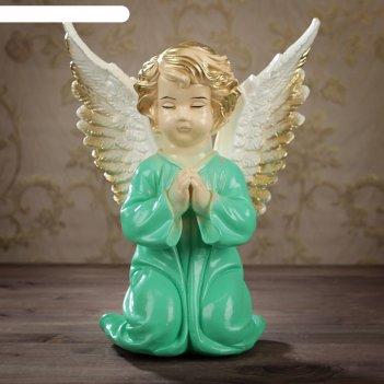Статуэтка ангел с крыльями большая, цветная 28*18*35 см микс