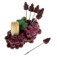 Набор для канапе виноград: 6 шпажек, зубочистки