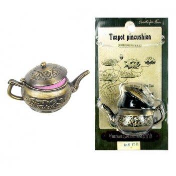 Металлический чайник-игольница винтаж рто