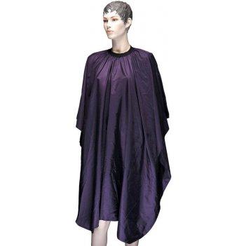 Пеньюар aa23 violet для стрижки палитра, полиэстер, фиолетовый, 128х146 см