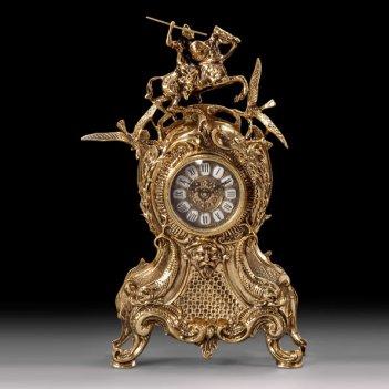 Часы каминные всадник