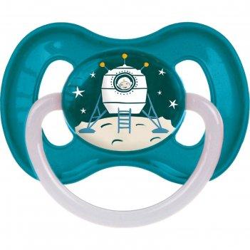 Пустышка латексная canpol babies space, круглая, от 6-18 месяцев, цвет бир