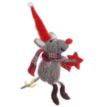 Фигурка декоративная мышка, l13 w7 h13 см