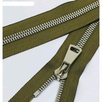 Молния для одежды, №8ст, разъёмная, 85 см, цвет хаки