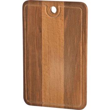Доска разделочная деревянная с желобом  40*25*2 см.бук (кор=10шт.)