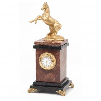 Часы вздыбленный конь креноид 105х105х250 мм 1500 гр.