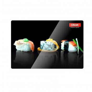 Доска разделочная «суши 3» 20x30 см, стеклянная