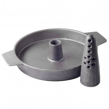 Чугунная сковорода 43 см, с испарителем, для птицы