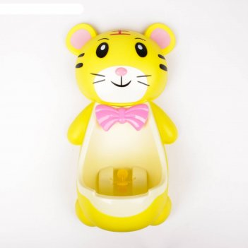 Детский горшок-писсуар на присосках «тигрёнок», цвета микс