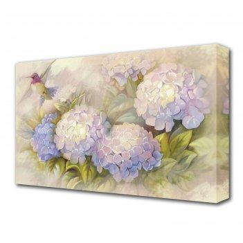 Картина на холсте цветы гортензии