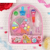 Набор косметики для девочки в рюкзачке лак 1,3 гр, тени 4 гр, помада 1,1 г