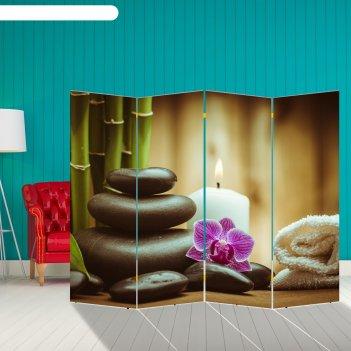 Ширма орхидея. камни, 200 x 160 см