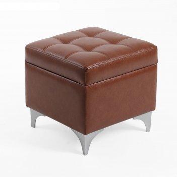 Банкетка жозефина 460*460*450 кож.зам коричневый