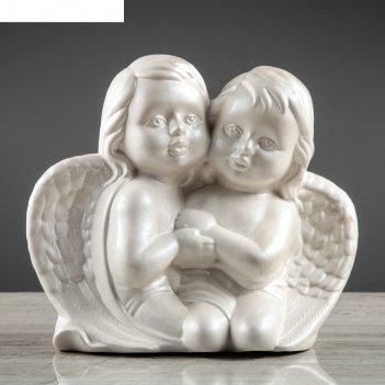 Статуэтка ангелочки белые, перламутровые