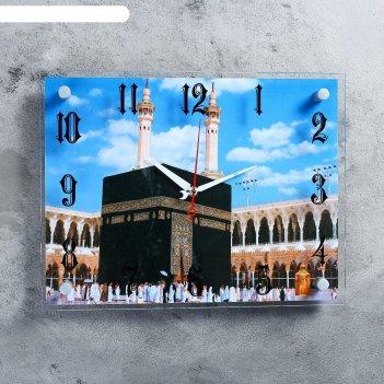 Часы настенные, серия: город, мекка, 30х40  см, микс