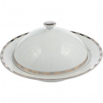 Маслёнка opal, декор платиновые пластинки, отводка платина