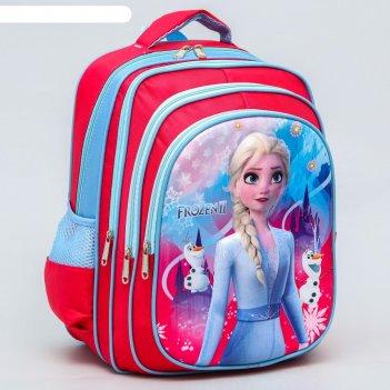 Ранец с жестким карманом frozen ll, холодное сердце