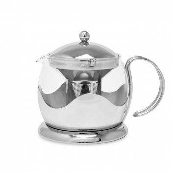 Чайник заварочный, объем: 1,2 л, материал: нержавеющая сталь, стекло, сери