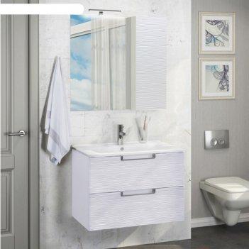 Зеркало-шкаф comforty «генуя-75» белый
