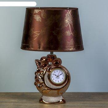 Настольная лампа лауретта 1х40вт e14 золото-коричневый 25х18х39см.