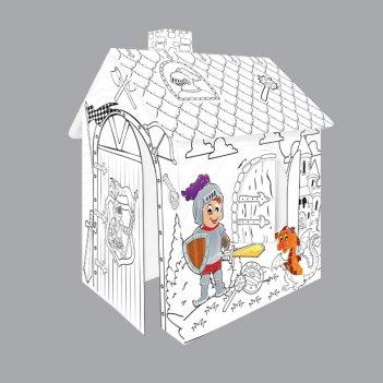 11123 игровой картонный домик-раскраска рыцарь, moсhtoys