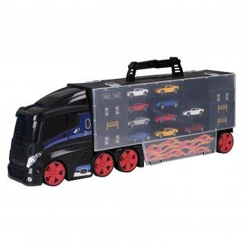 Игровой набор для детей teamsterz «автоперевозчик», с 10 машинками