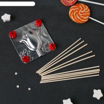 Набор для приготовления леденцов и мармелада «тюльпан», цвет микс