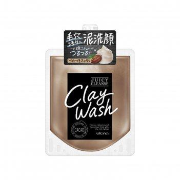 Пенка для умывания на основе глины utena juicy cleanse уменьшающая жирност