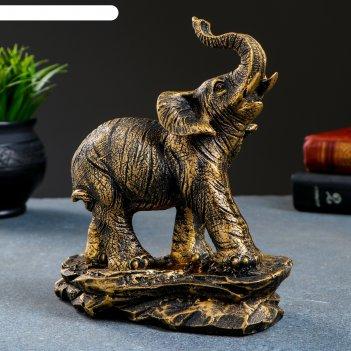 Фигура слон  бронза 17х9х19см