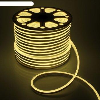 Гибкий неон 8 х 16 мм, 100 метров, led-120-smd2835, 220 v, теплый белый