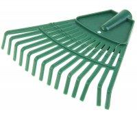 Грабли веерные, 14 зубьев, диаметр 18 мм, рабочая часть 19 см, пластик, зе