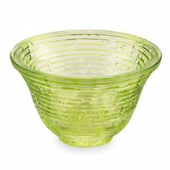 Чаша для соуса, 9 см, цвет зеленый, стекло, ручная работа, с