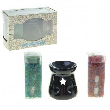 Набор ароматы индии (аромалампа, арома кристаллы, свечи, аромамасло) муску