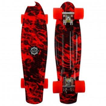 Скейтборд r2206, размер 56х15 см, колеса pu, аbec 7, алюминиевая рама, цве