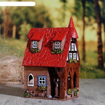 Аромалампа домик «ольга», 14 см, ручная работа, микс