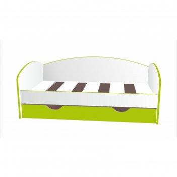 Кровать-тахта детская, спальное место 1600 x 700 мм, цвет белый / лайм