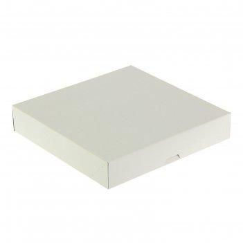Кондитерская упаковка, короб, белый, 22,5 х 22,5 х 4,2 см