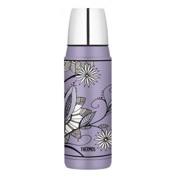 Термос со стальной колбой thermos heritage purple flower h2000a6pf, 480 ml