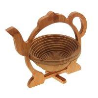 Корзинка для хлеба и фруктов раскладная 30х26,5х22,5 см чайник