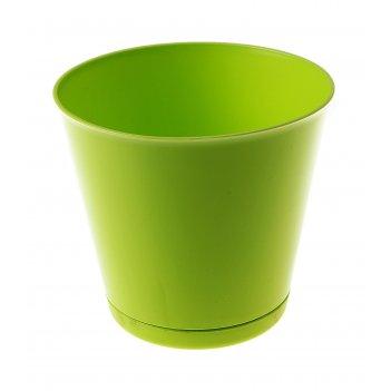 Горшок для цветов 0,7 л крит, d=12 см, система прикорневого полива, салато